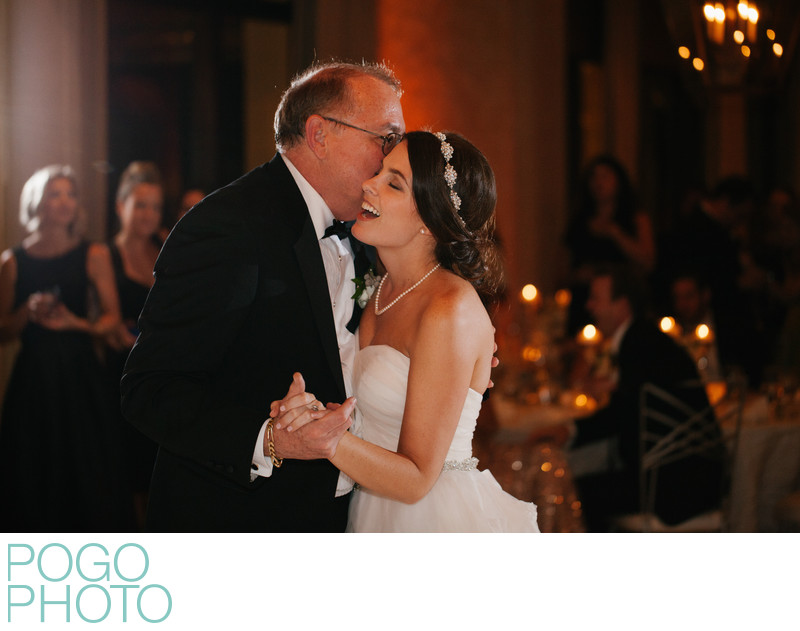 Bride Overcome with Joy During Father-Daughter Dance