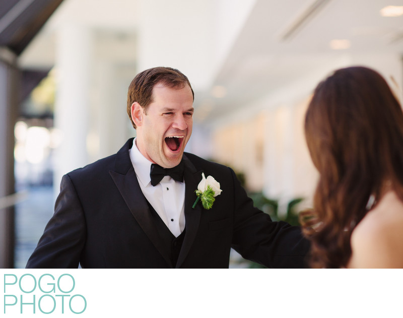 Groom's Ecstatic Reaction at South Florida First Look