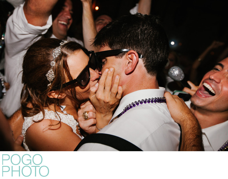 Last Dance Romantic Kiss Photo at Destination Wedding