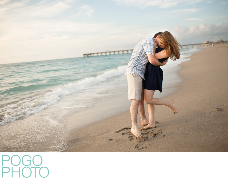 Jupiter Engagement Photographers at Juno Beach Pier