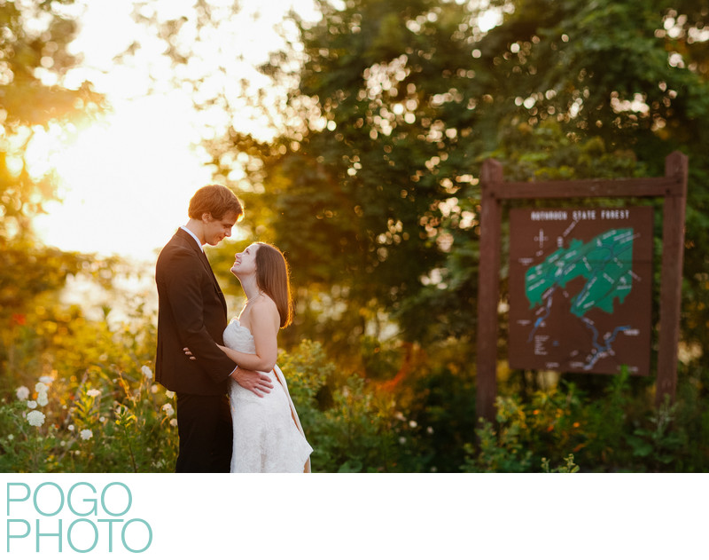 Adventurous Wedding Photographer at Lovely State Park