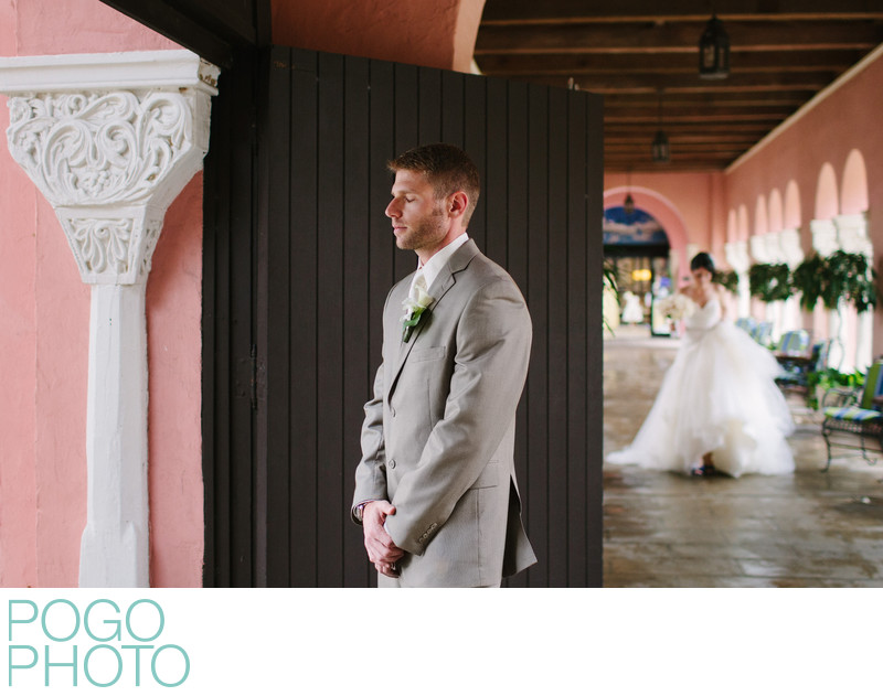 Emotional Groom Before First Look at Boca Raton Resort