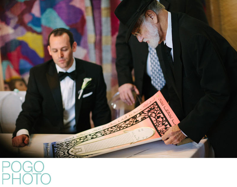 Boca Raton Photographer at Traditional Ketubah Signing