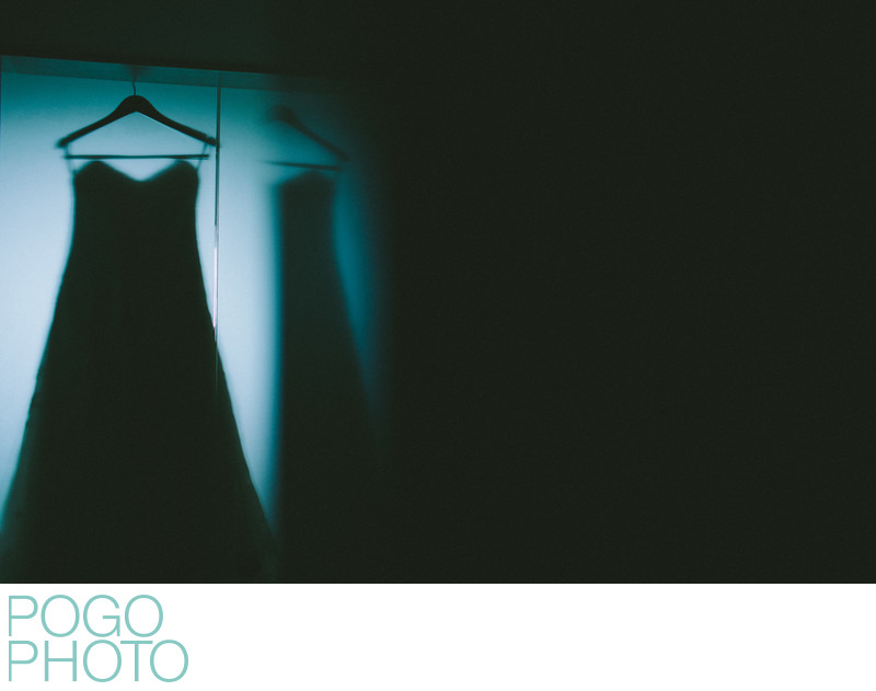 Abstract Wedding Dress Silhouette Image at Eden Roc