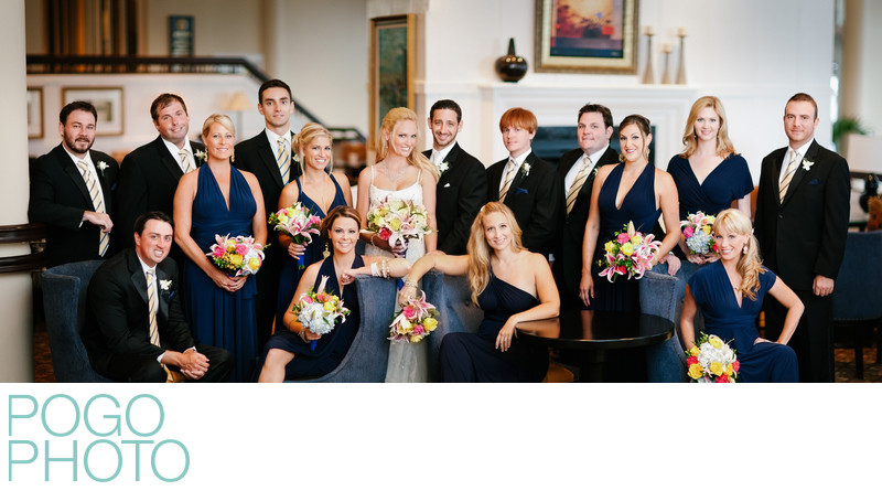 Vanity Fair Style Group Bridal Party Portrait, Florida