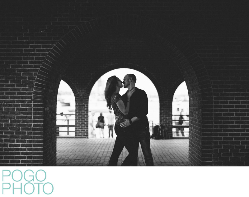 Long Wharf Marriott Engagement Photographers in Boston