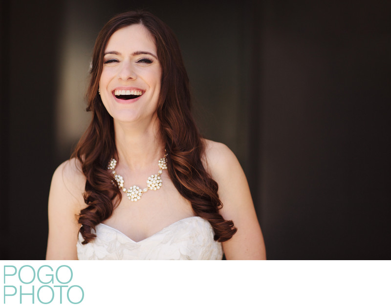Laughing Bridal Portrait by Ft Lauderdale Photographer