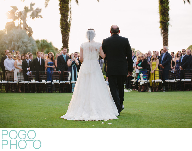 Photo of Palm Beach Father Walking Daughter Down Aisle