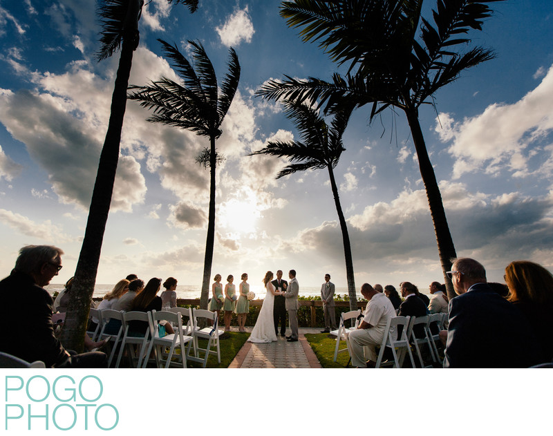 Sweeping Image of Naples Destination Wedding Ceremony