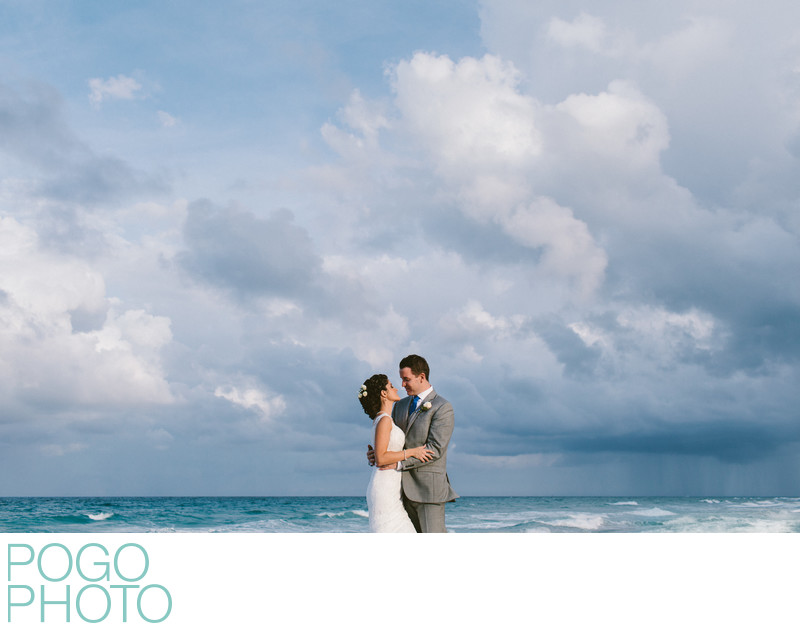 Dramatic Clouds in Florida Sky at Palm Beach Wedding