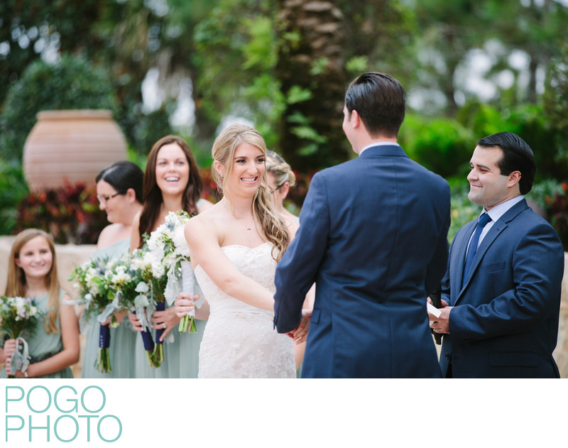 South Florida Photographers Snap Brides Sister Laughing