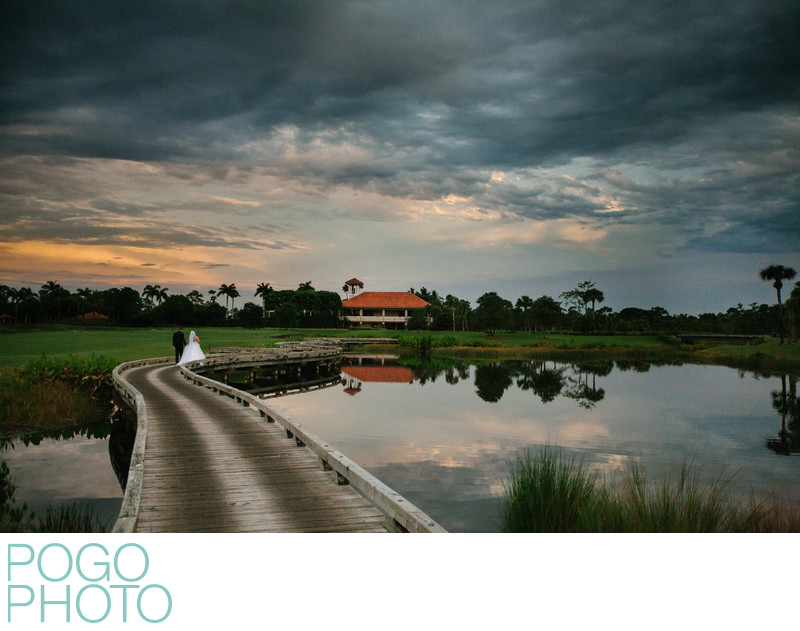Florida Sunset Wedding Photo at West Palm Beach Club
