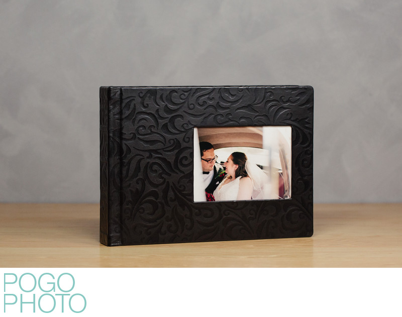 Pogo Photo Signature Album with Black Embossed Leather