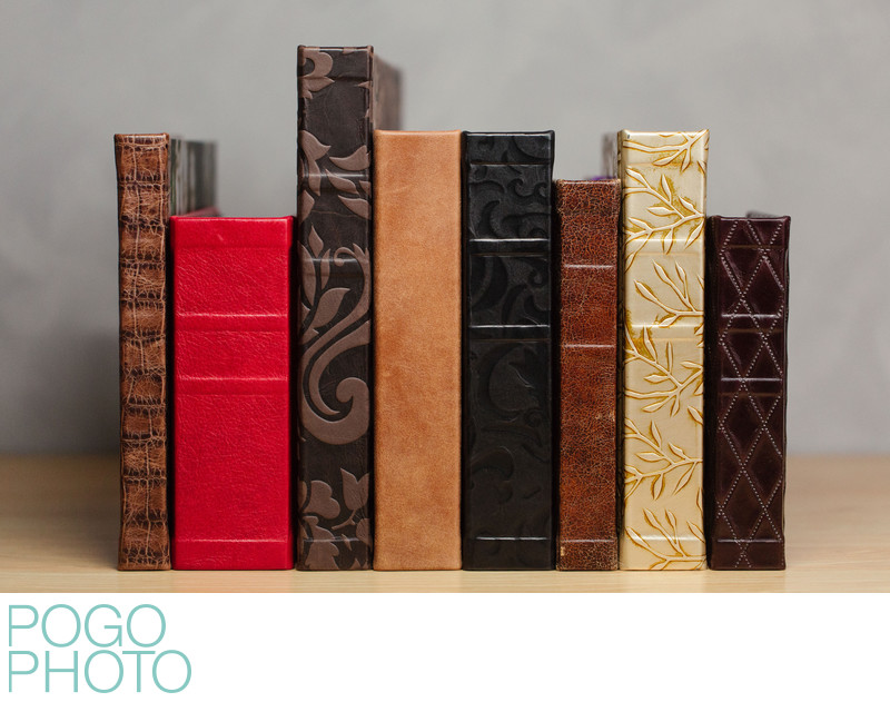 Pogo Photo's Heirloom Leather Bound Wedding Albums