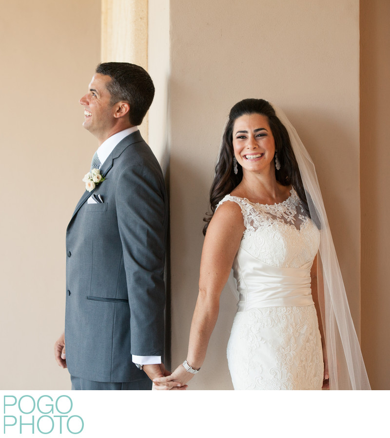Ritz Carlton Wedding Photographers Capture First Look