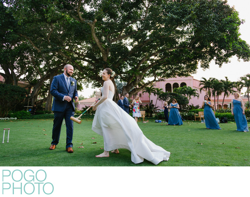 Croquet Wedding Match With Boca Raton Bridal Party