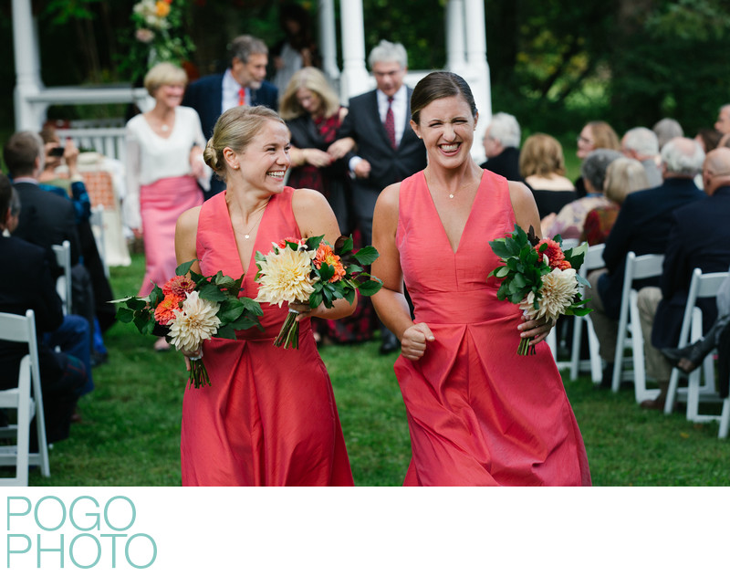Barrows House Wedding Photographers With Fun Bridesmaid
