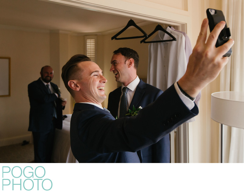 South Florida Photographers With Groom at Boca Resort