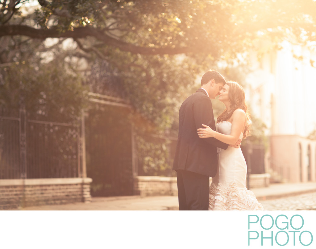 Romantic couple portraits in Charleston, South Carolina