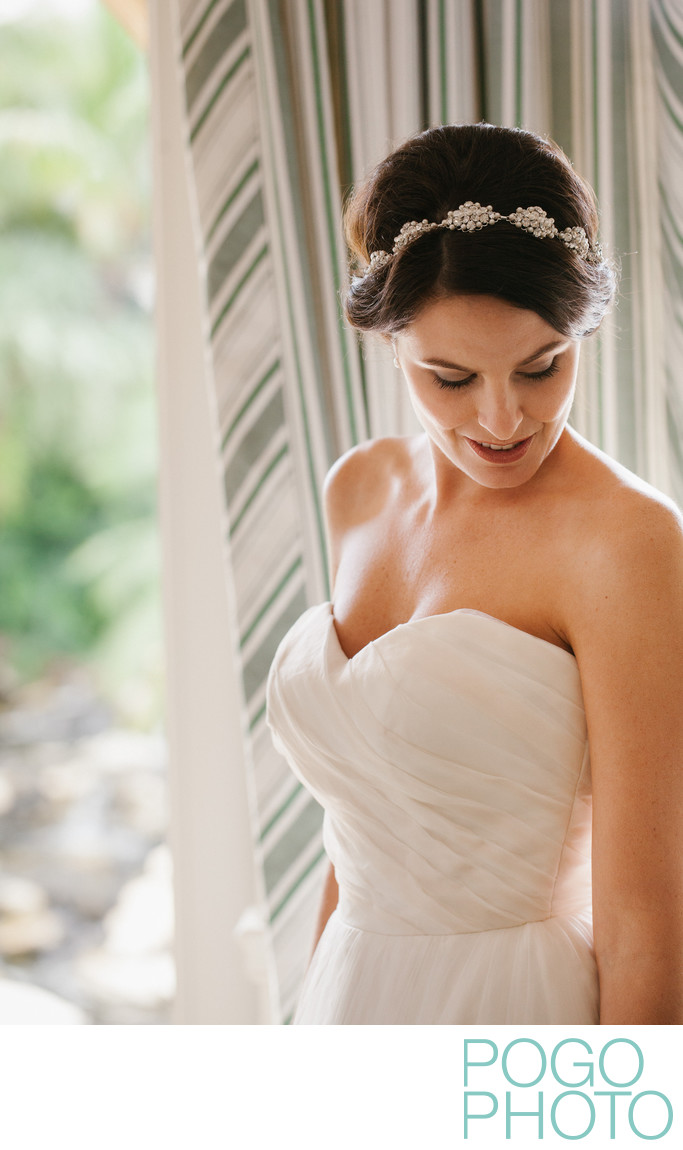 Beautiful bridal portrait at Old Palm Golf Club