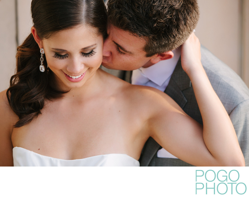 Tender Kiss from Groom at The Addison, Boca Raton FL