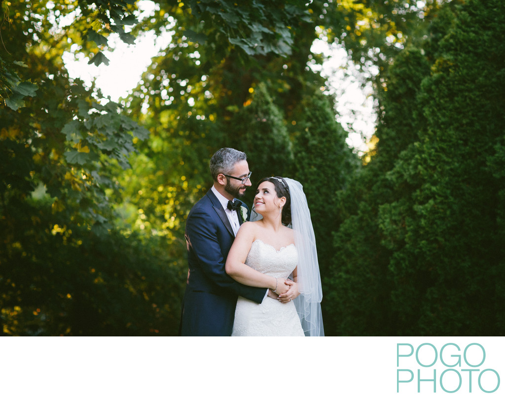 Artistic Wedding Portraits with Soft Light in VT Woods