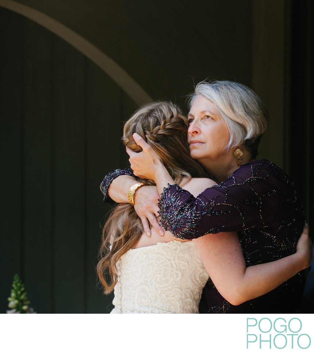 Emotional Mother of the Bride at Stowe Ski Lodge