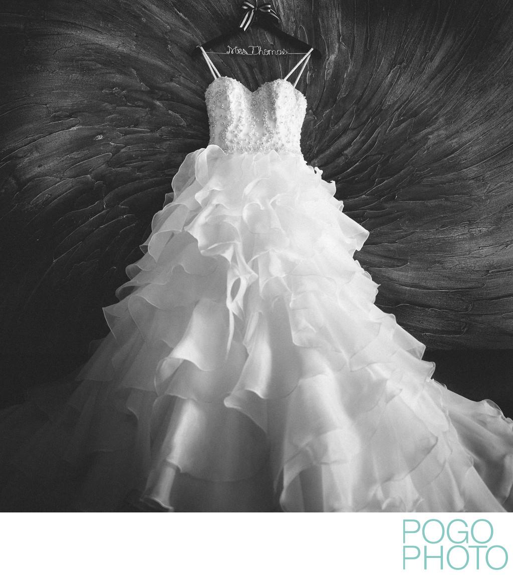 Wedding Dress Photo At Jay Peak, Northeast Kingdom