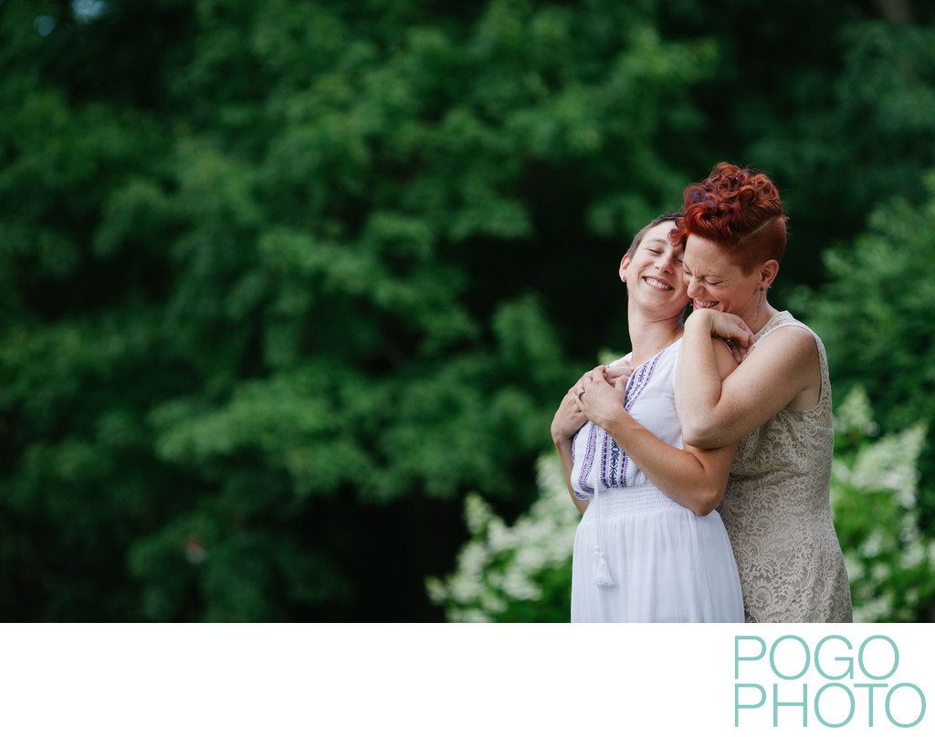 Relaxed Same Sex Wedding Portraits in New Hampshire