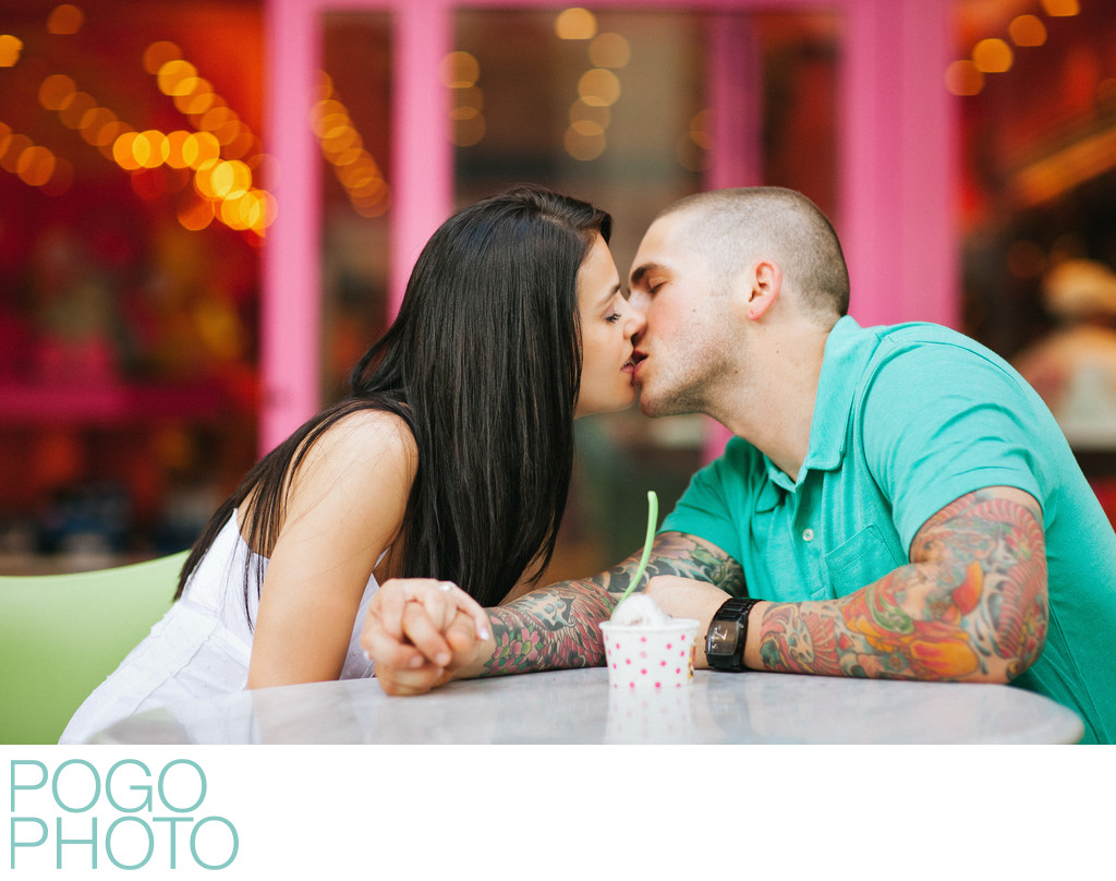 Colorful engagement portraits in West Palm Beach