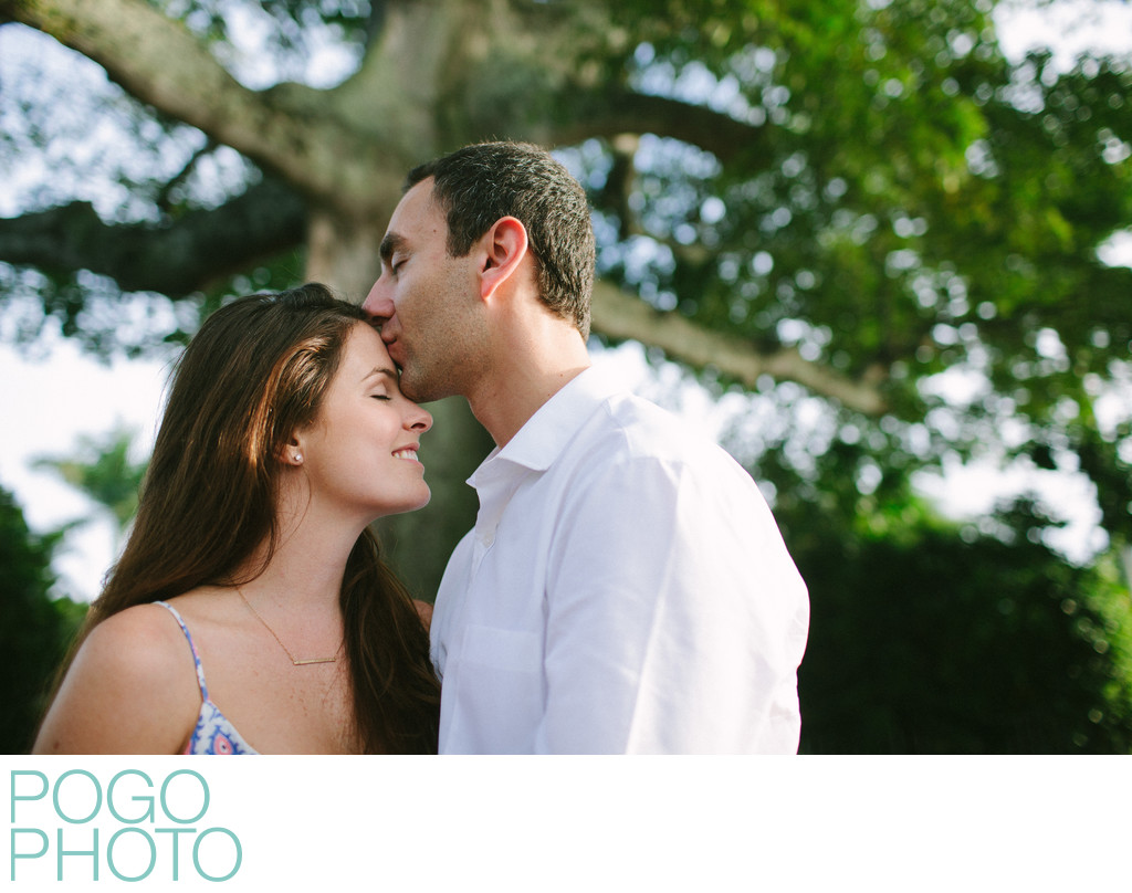 Palm beach engagement photography at Whitehall