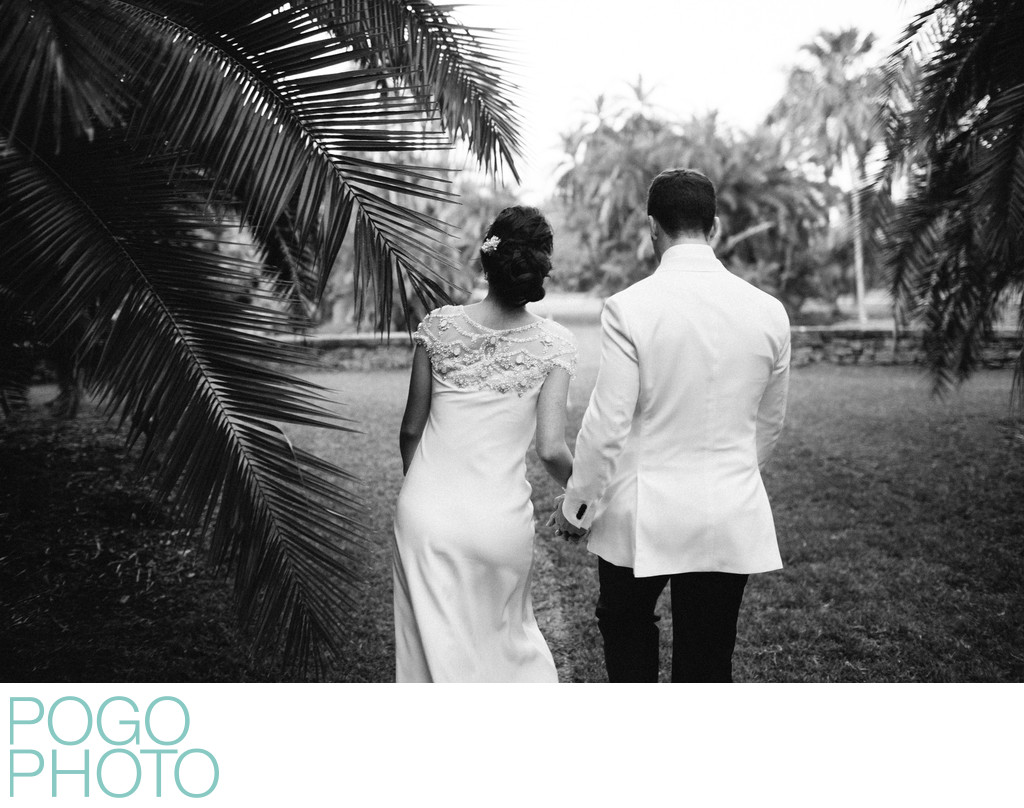 Black and White Documentary Photo from Garden Wedding