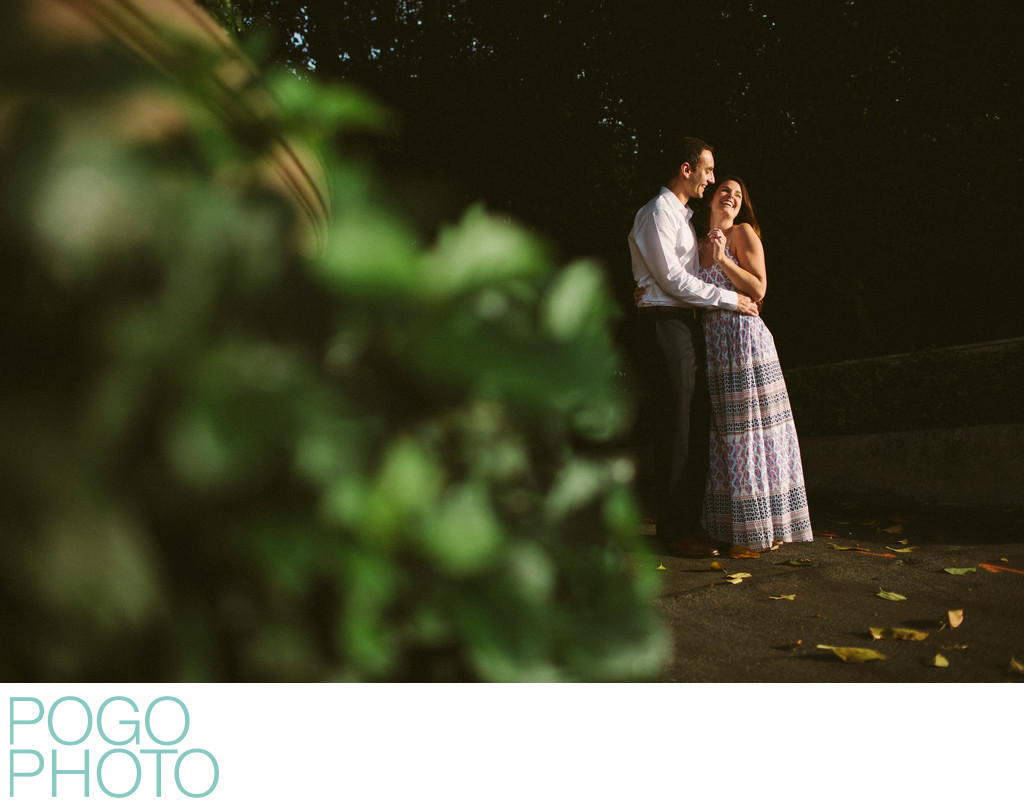 Voyeuristic Engagement Image in Dramatic Natural Light