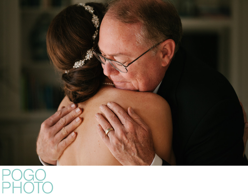 Father of the Bride Embraces Daughter in Palm Beach