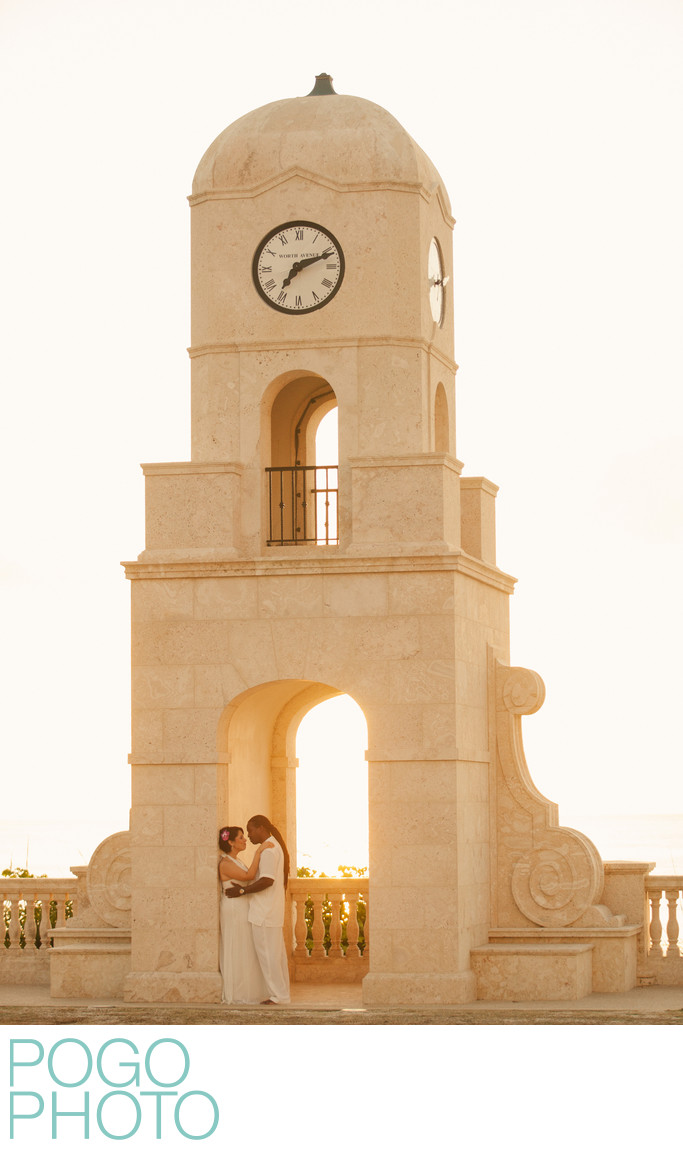 Palm Beach Elopement Photographers at Worth Ave Clock