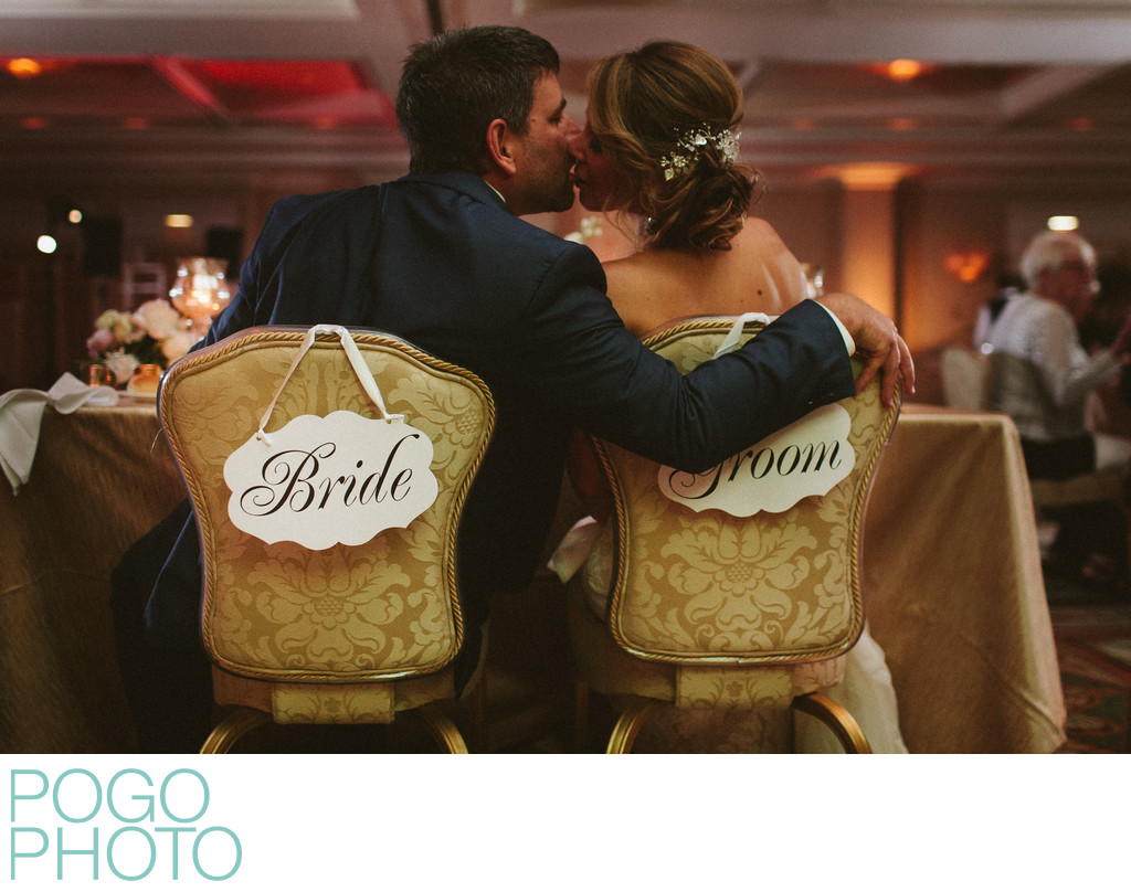 Funny Accidental Seat Mixup with Bride & Groom Signs