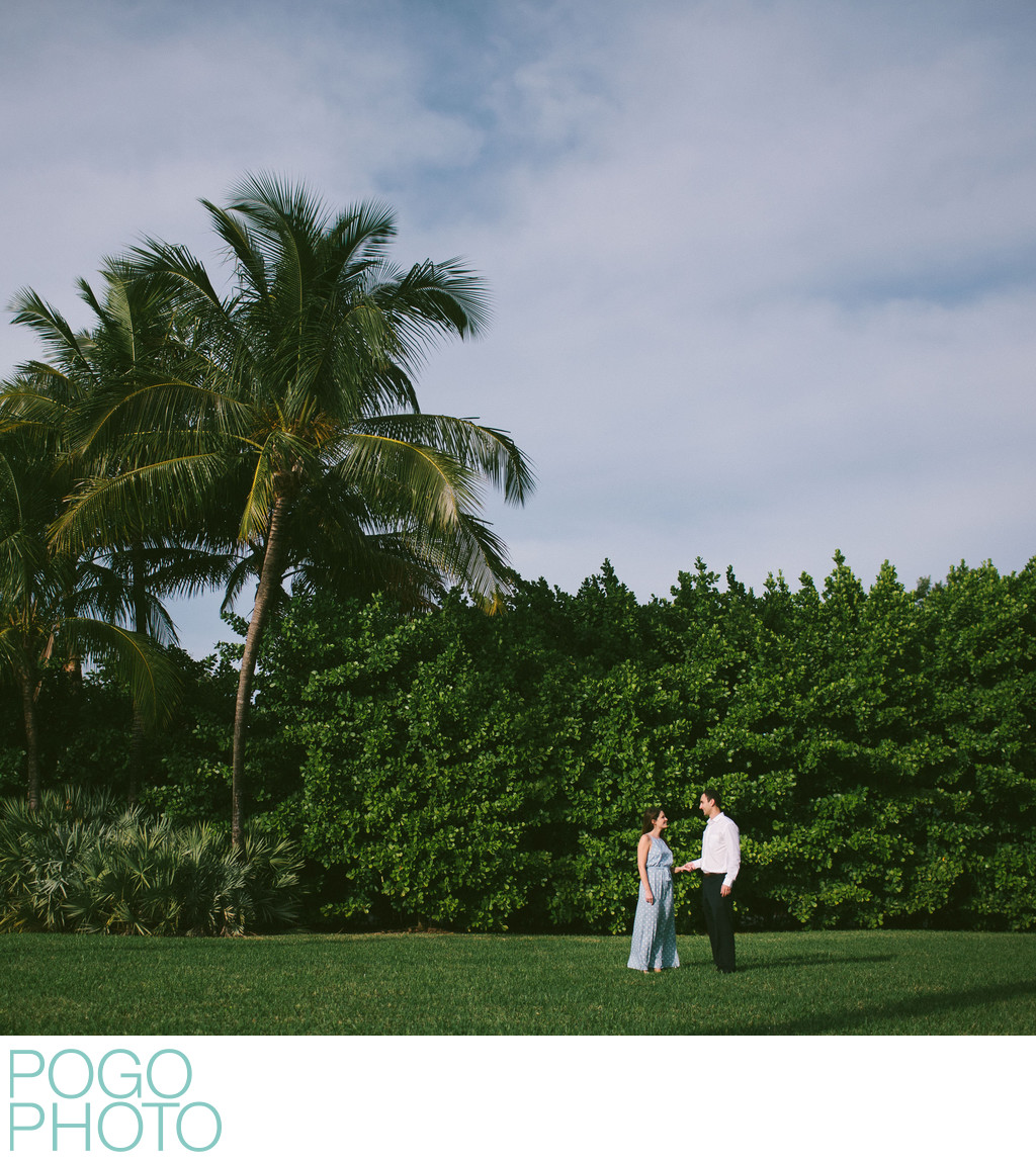 Palm Beach Island Film Style Engagement Photography