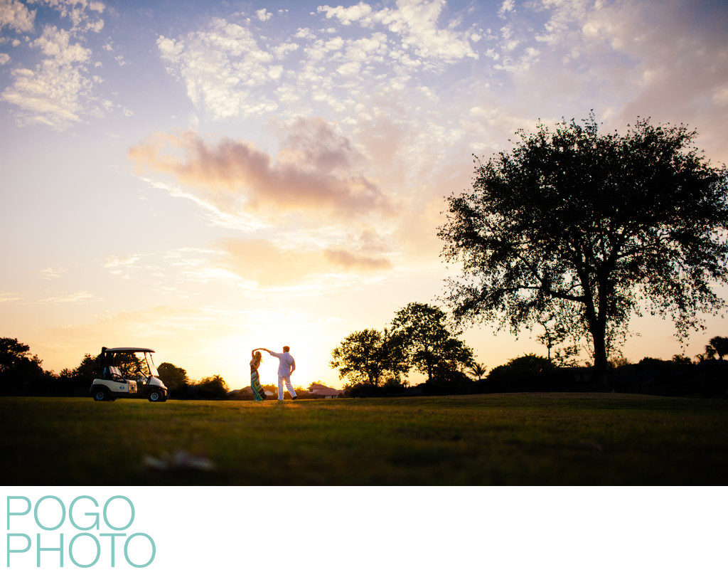 Palm Beach Photographer at Golf Themed Engagement
