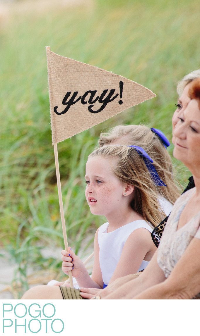 Funny Flower Girl Photo at Seagate Delray Beach Wedding