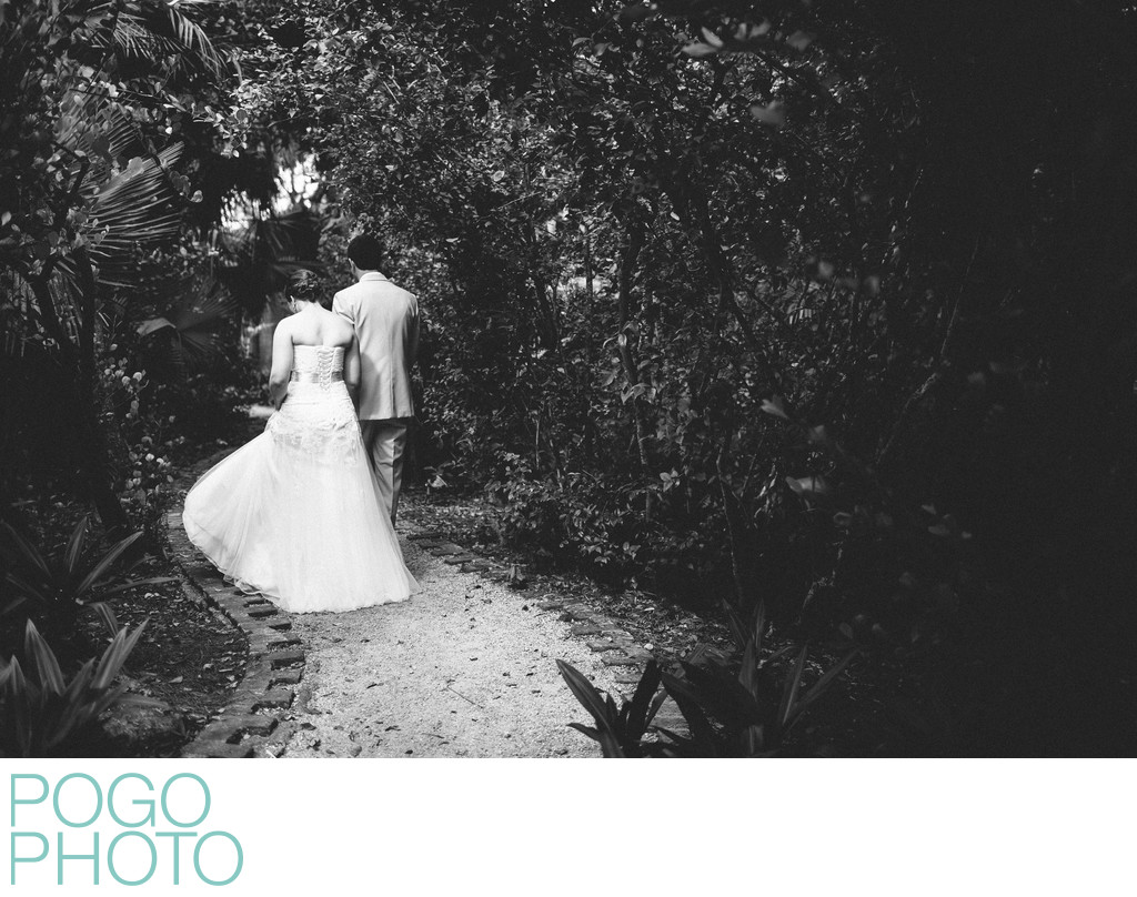 Secret Garden Pathway Leads Couple to Private Ceremony