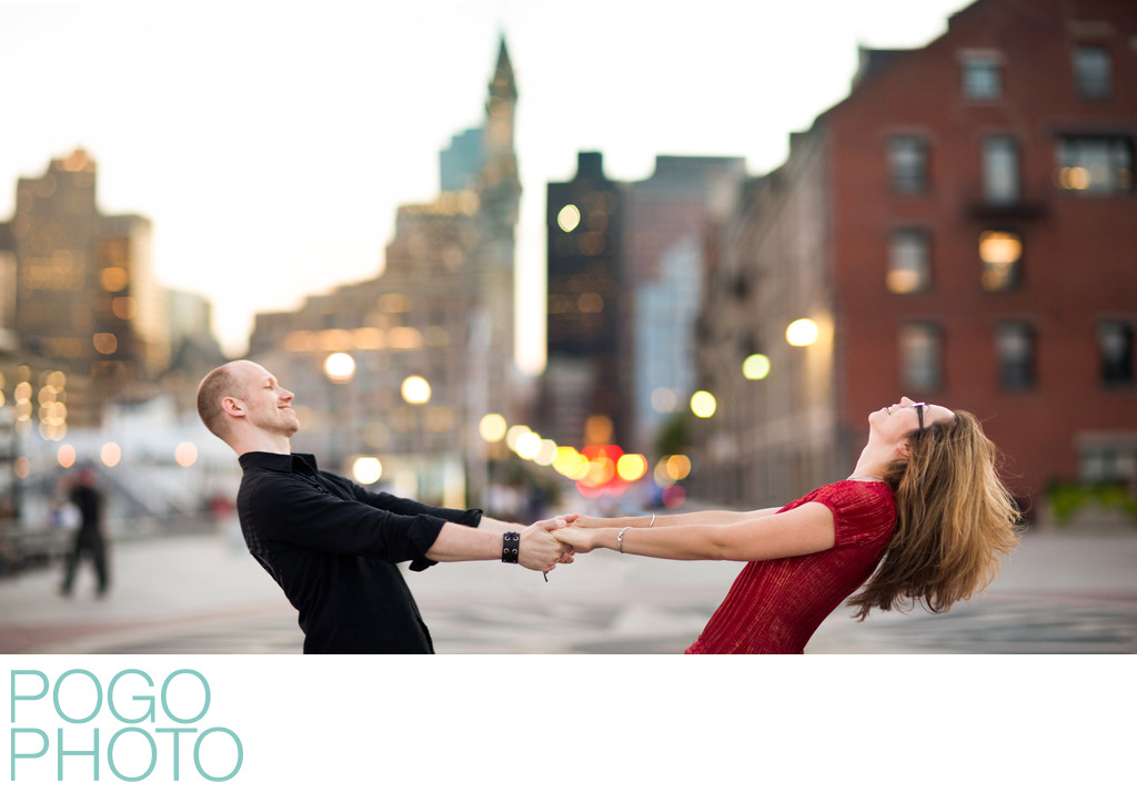 Boston Engagement Photography at Long Wharf Marriott