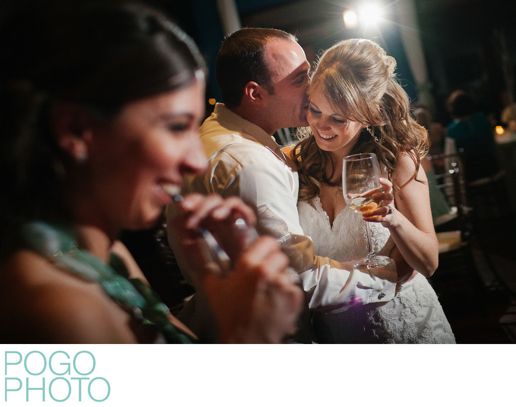 Affectionate Wedding Couple Drink & Dance in Naples, FL