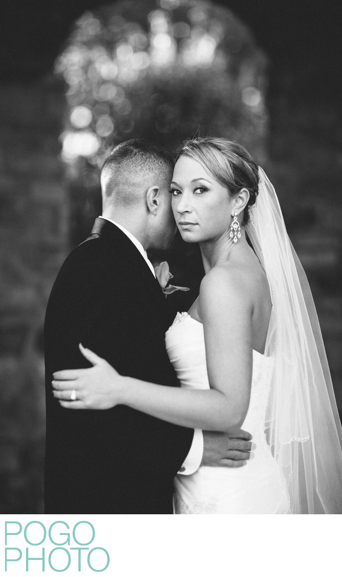 Dramatic Bride and Groom Image at Florida Destination