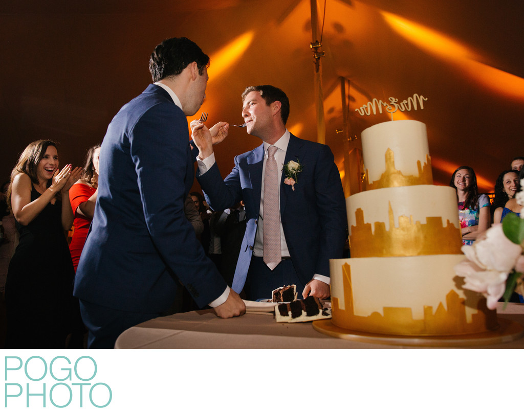 Same Sex Wedding Photography With New York City Cake