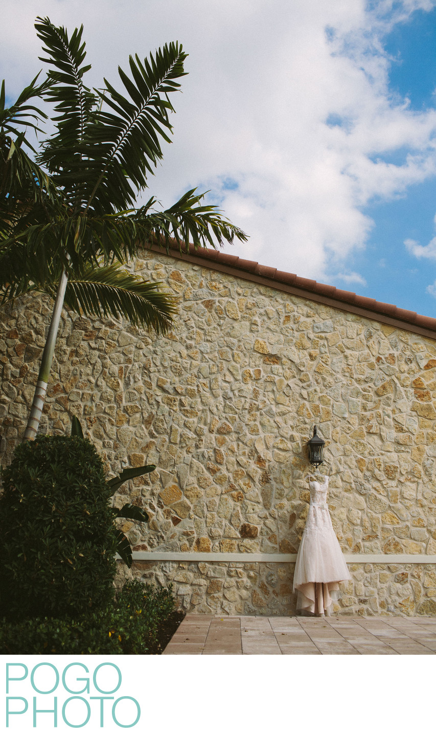 Jupiter Country Club Modern Outdoor Bridal Dress Photo