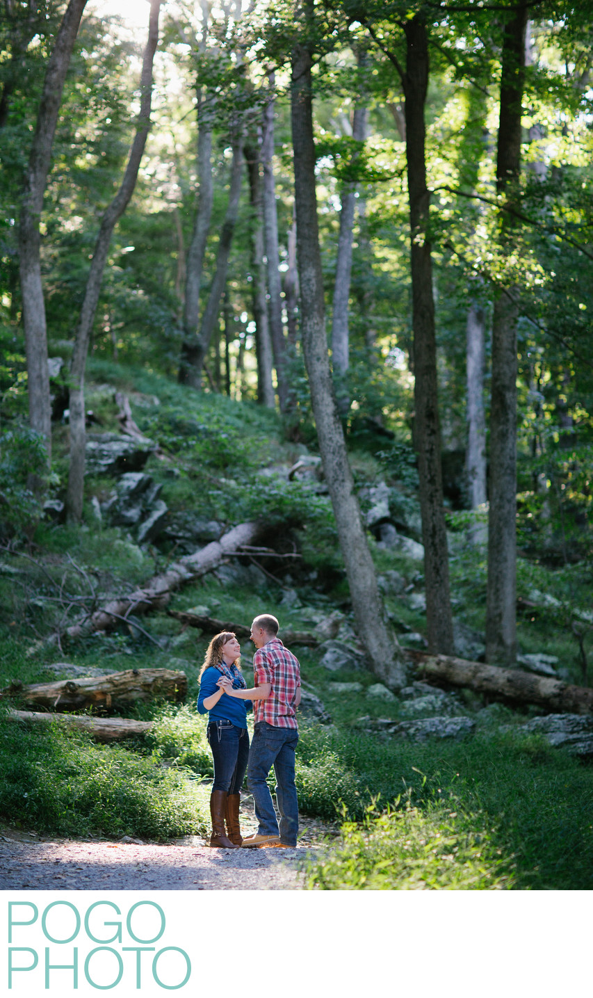 Summer Vermont Engagement Session in the Woods