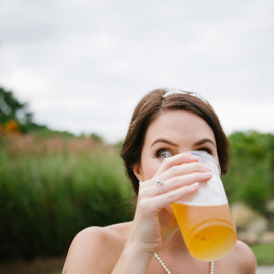 Beer drinking bride in Palm Beach County