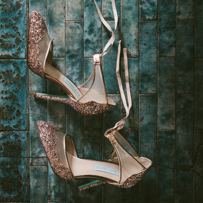 Betsey Johnson Stela Glitter Wedding Shoes Detail Photo