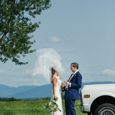 Basin Harbor Bride's Veil Flies in Vermont Summer Wind