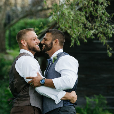 New England Same Sex Wedding Photographers at VT Barn